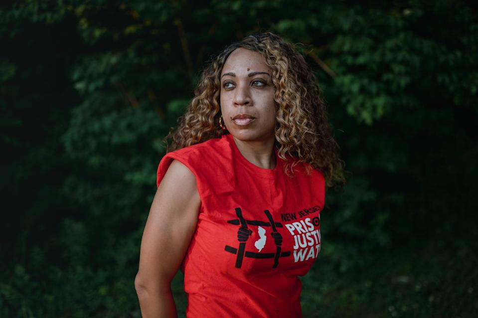 """Nafeesah A. Goldsmith, 42, is the chair of New Jersey Prison Justice Watch. When it comes to voting rights for those that are formerly incarcerated she says she doesn't like the term """"re-entry"""" because """"no one can re-enter society when they can't even vote."""""""