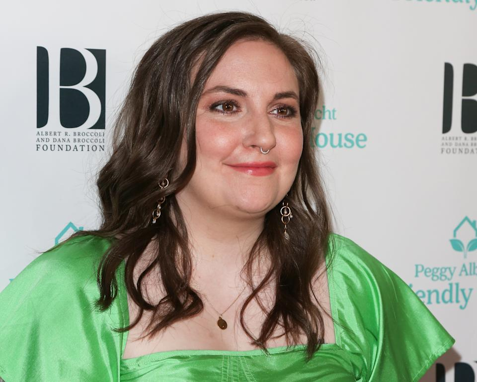 Lena Dunham opens up about the introduction of fashion collaboration for larger bodies and why she didn't wear Spanx.  (Photo: Paul Archuleta / FilmMagic)