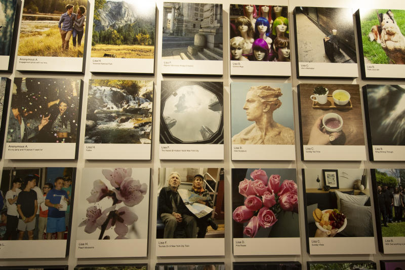 Many photographers like Lisa F. had multiple photos on display at the Fujifilm Printlife exhibit. (Photo: Gordon Donovan/Yahoo News)