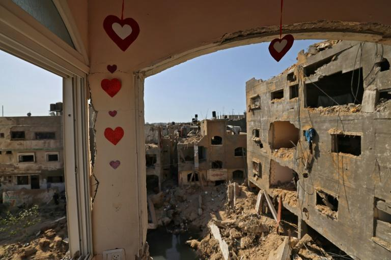 """Beit Hanun residents said the """"stench of death"""" had lingered after Israeli bombardment"""