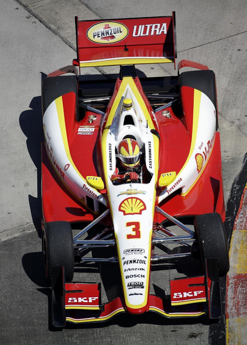 Castroneves' title hopes take hit in Houston