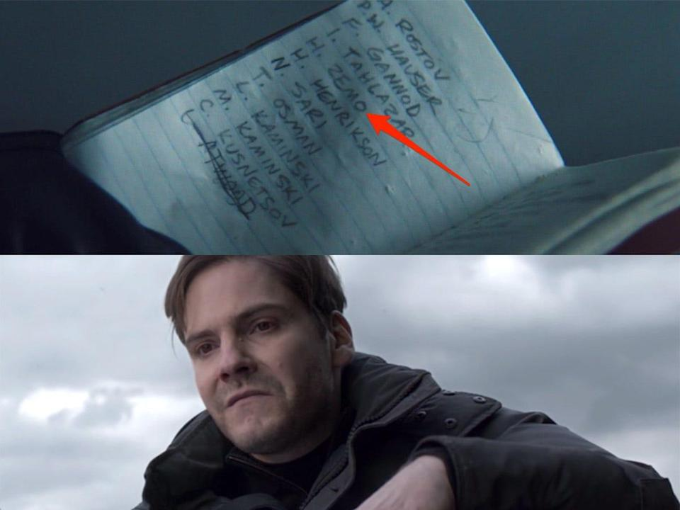 the falcon and the winter soldier 101 detail bucky notebook zemo