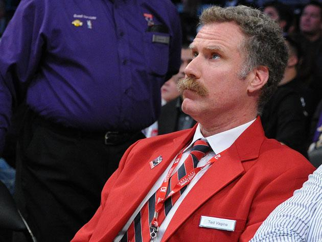 Will Ferrell plays a security guard at a Laker game, ejects ...