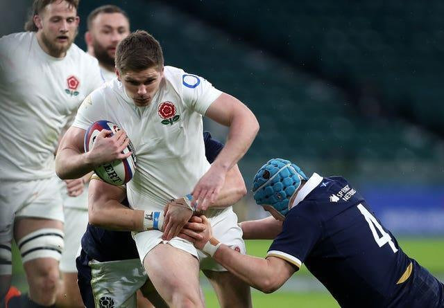 Mike Brown has called for Owen Farrell (pictured) to be dropped