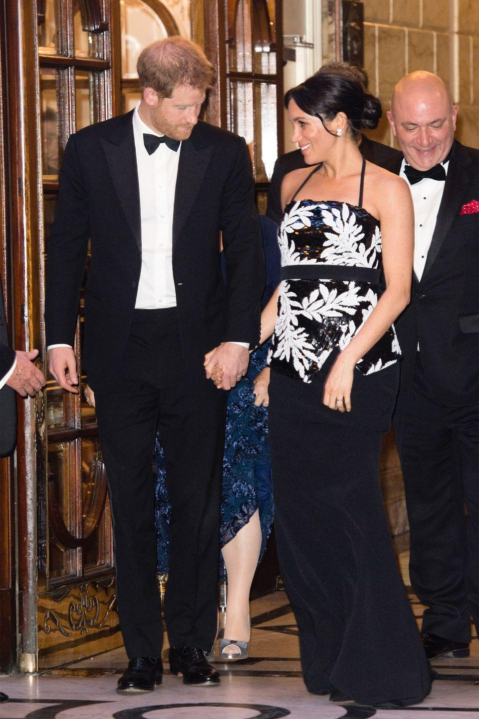 <p>The Duke and Duchess of Sussex looked dapper as they attended The Royal Variety Performance at London Palladium. </p>