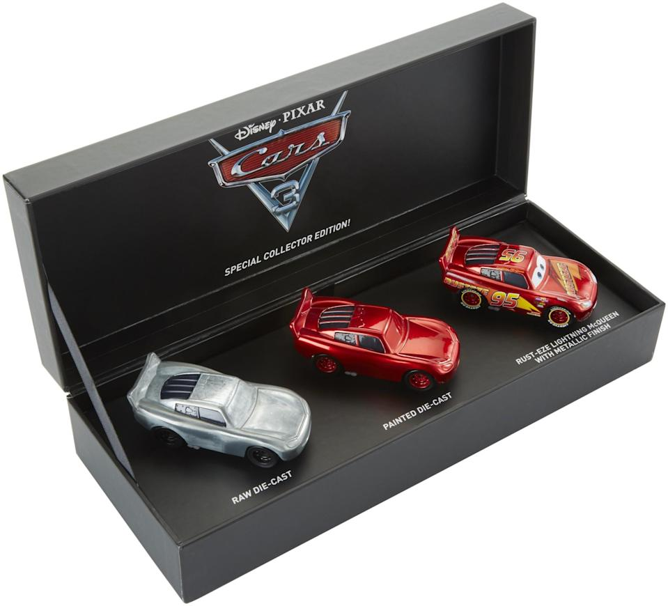 <p>This set traces the evolution of the vehicle design. Ka-chow! (Photo: Mattel) </p>