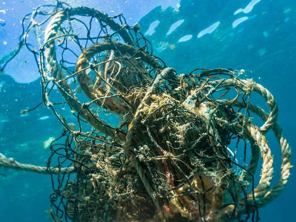 Lost, abandoned or broken nets, lines and ropes make up at least 10 per cent of marine litter, according to a new report (Getty Images/iStockphoto)