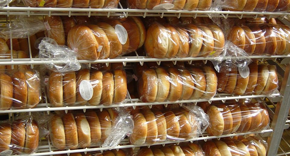 Shelf containing bread rolls after Woolworths recalls 10 bread products.