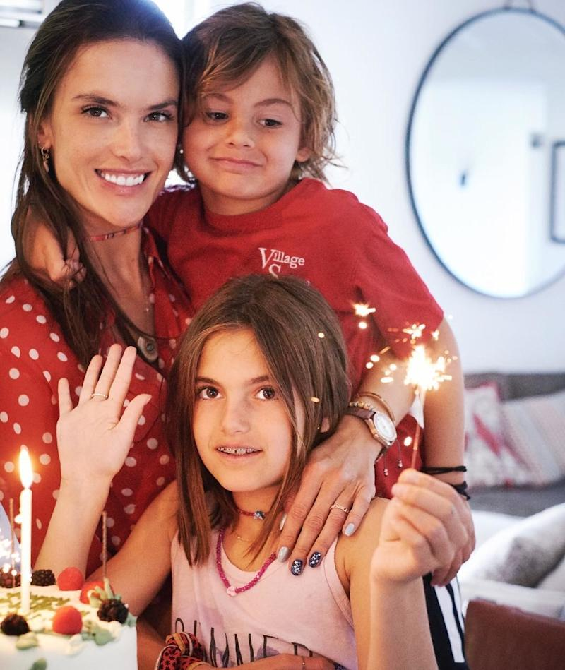 Before they split after a decade-long engagement earlier this year, Alessandra Ambrosio and her fiancé had two children: Anja Louise and Noah Phoenix. (She walked the runway of the Victoria's Secret Fashion Show just three months after giving birth to the former, and wore the heaviest wings ever made for the show while pregnant with the latter.)