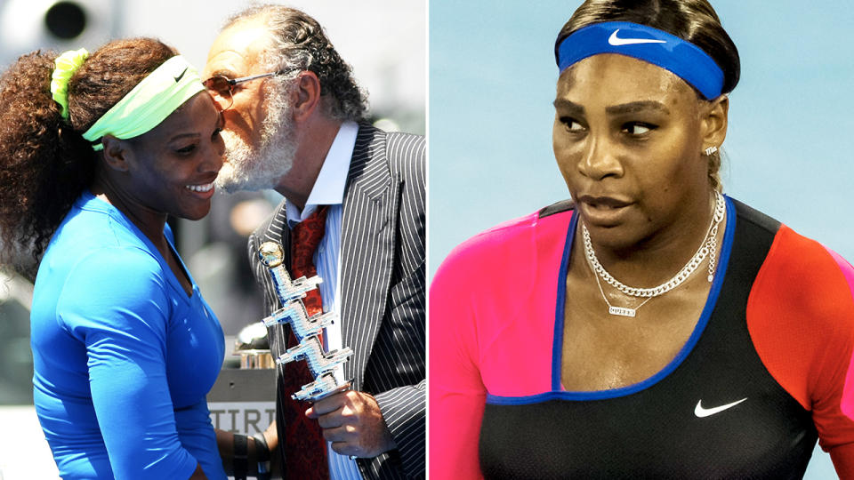 Serena Williams, pictured here with Madrid Open boss Ion Tiriac.