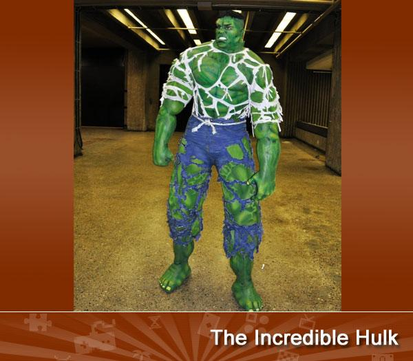 "THE INCREDIBLE HULK -- Madder Hulk get, more shredded Hulk clothes get. This amazing piece of cosplay from the 2011 Montreal Comic Con goes above and beyond, creating a scaled depiction of the gamma-powered goliath.<br><br>(photo provided by <a target=""_blank"" href=""http://www.geeksaresexy.net/2011/09/18/comic-con-montreal-2011-in-pictures-cosplay-gallery/"">Geeksaresexy.net</a>)"