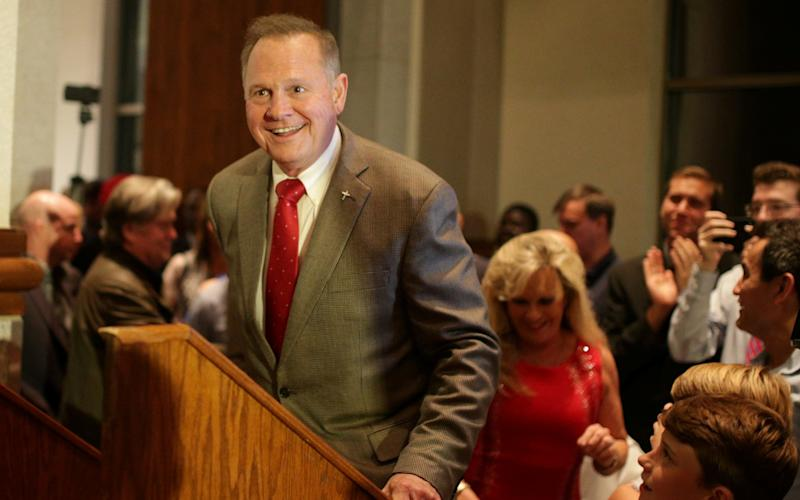 Roy Moore, hoping to be elected to represent Alabama in the US Senate in December