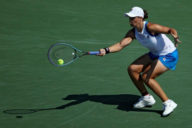 World number one Ashleigh Barty of Australia defeated Angelique Kerber of Germany on Saturday to reach the final of the WTA Cincinnati Masters