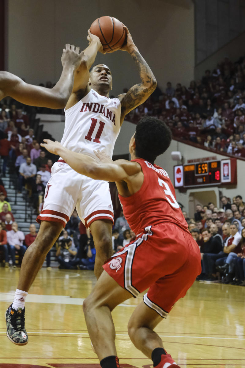 Green, Phinisee lead Indiana past No. 11 Ohio State 66-54
