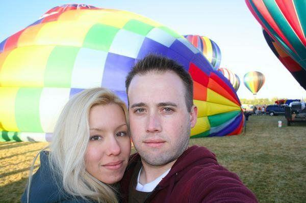 An undated photo of Jodi Arias and Travis Alexander that she posted to her MySpace page. According to the photo caption, it was taken at the Albuquerque Balloon Fiesta.