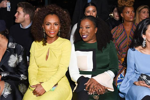 Janet Mock attends Prabal Gurung – Front Row – February 2018 – New York Fashion Week: The Shows at Spring Studios on February 11, 2018 in New York City. (Photo by Presley Ann/Patrick McMullan via Getty Images)