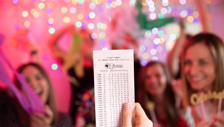 Oz Lotto ticket pictured as a Sydney man wins $10 million in Tuesday's draw.