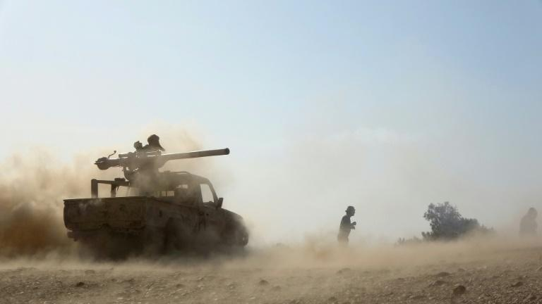 Saudi-backed government troops are fighting a Huthi rebel offensive on the northern stronghold of Marib, here pictured on Sunday