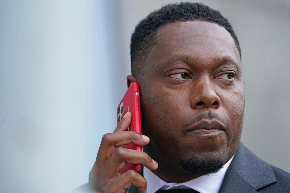 Dizzee Rascal real name Dylan Mills, arrives at Croydon Magistrates' Court (Gareth Fuller/PA) (PA Wire)