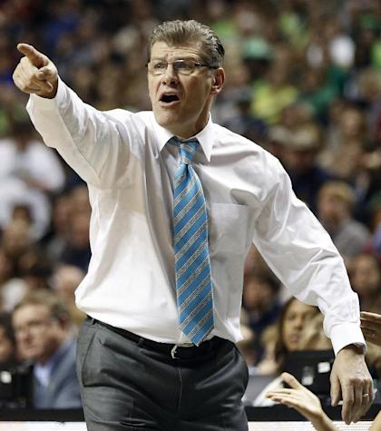 The NCAA cited Geno Auriemma with a secondary rules violation. (AP)