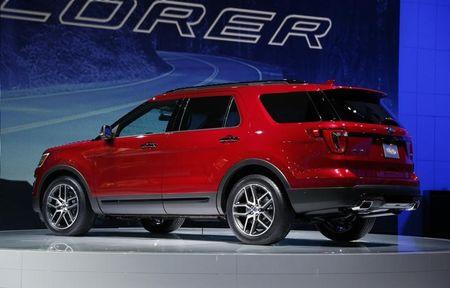 FILE PHOTO: The 2016 Ford Explorer is shown during the model's world debut at the Los Angeles Auto Show in Los Angeles, California November 19, 2014.   REUTERS/Lucy Nicholson