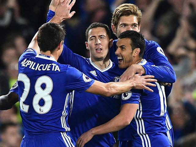 Hazard was on target for Chelsea... as he so often is against the top sides