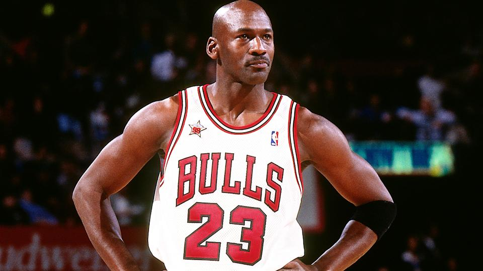 Michael Jordan is pictured during the 1998 NBA All-Star game.