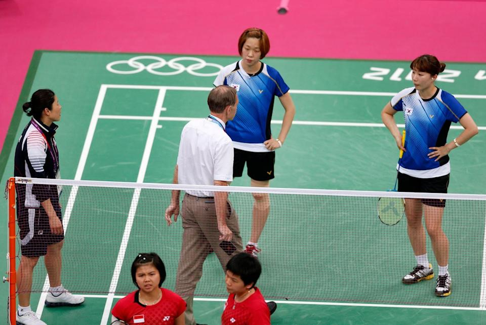 Berg also had to have words with players from South Korea and Indonesia. (Reuters)