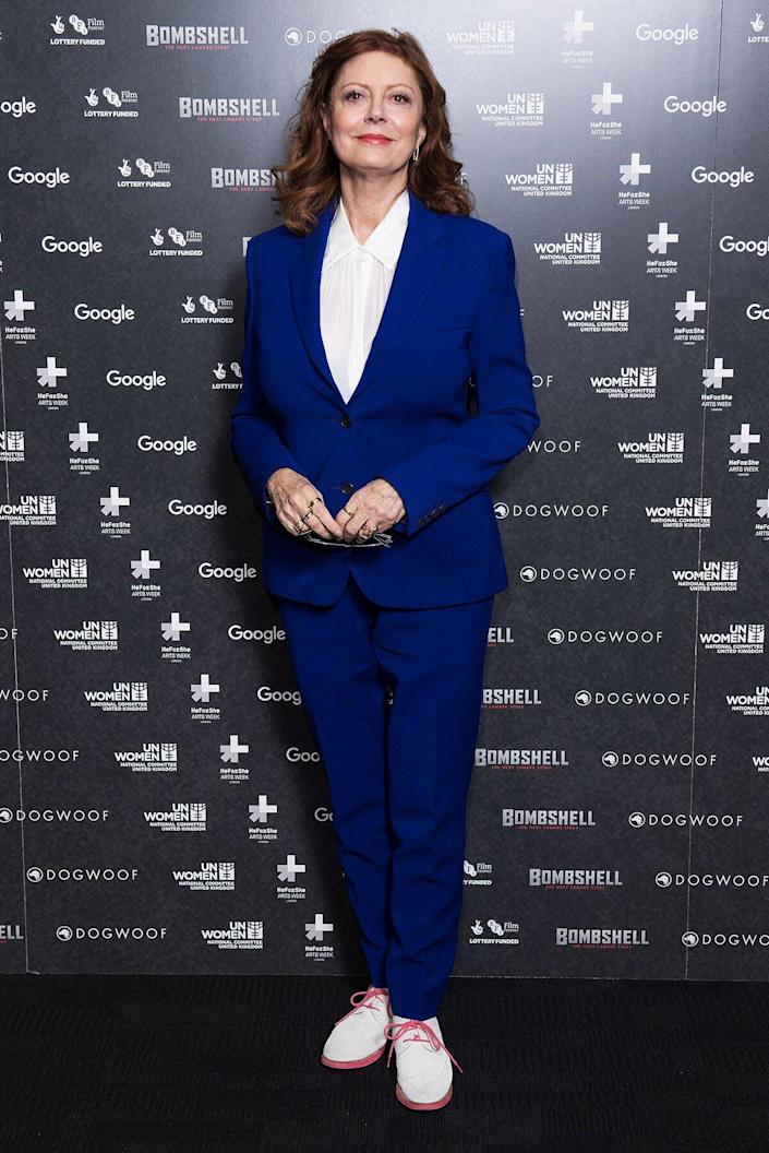 Susan Sarandon attends a special screening of Bombshell: The Hedy Lamarr Story at BFI Southbank on March 8, 2018 in London, United Kingdom.