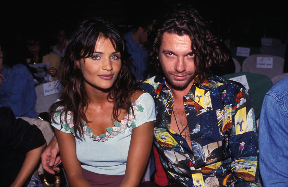 Helena Christensen and Michael Hutchence together in 1992. (Photo: ARNAL/Gamma-Rapho via Getty Images)