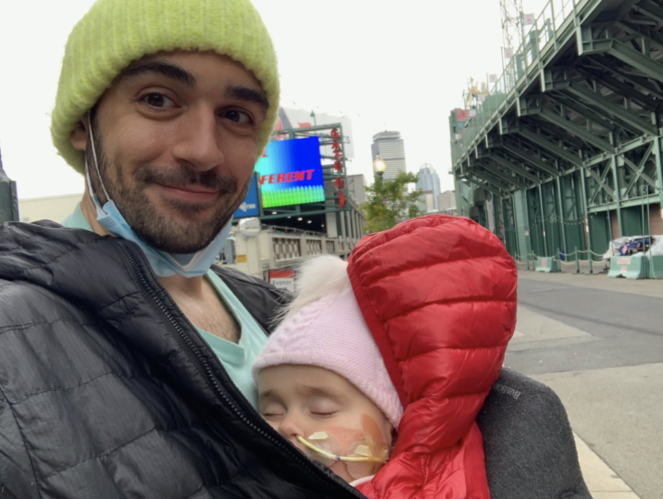 Andrew Kaczynski and his daughter, Francesca