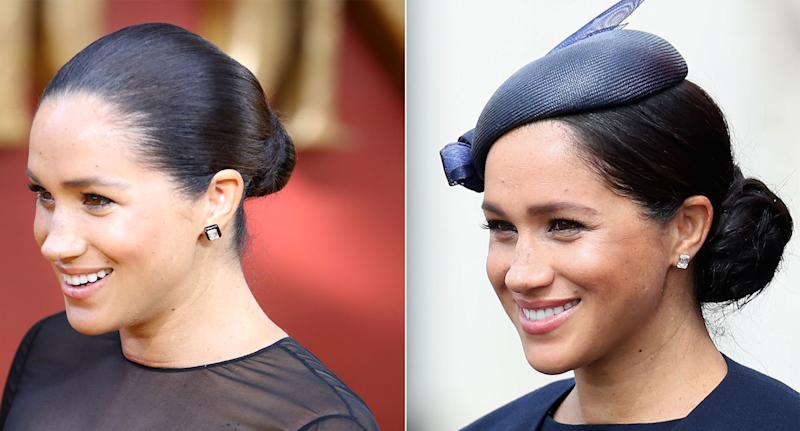 Meghan's Lorraine Schwartz earrings are customisable. [Photos: Getty]