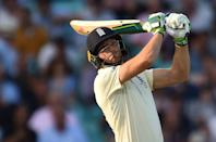 <p><strong>14 - </strong>Wicket-keeper of team England, Joseph Charles Buttler, is also an unassuming yet dependable batsman. He has hit a total of 14 sixes in 31 innings in the series. His average run rate is 33.20, with a strike rate of 52.88.</p>