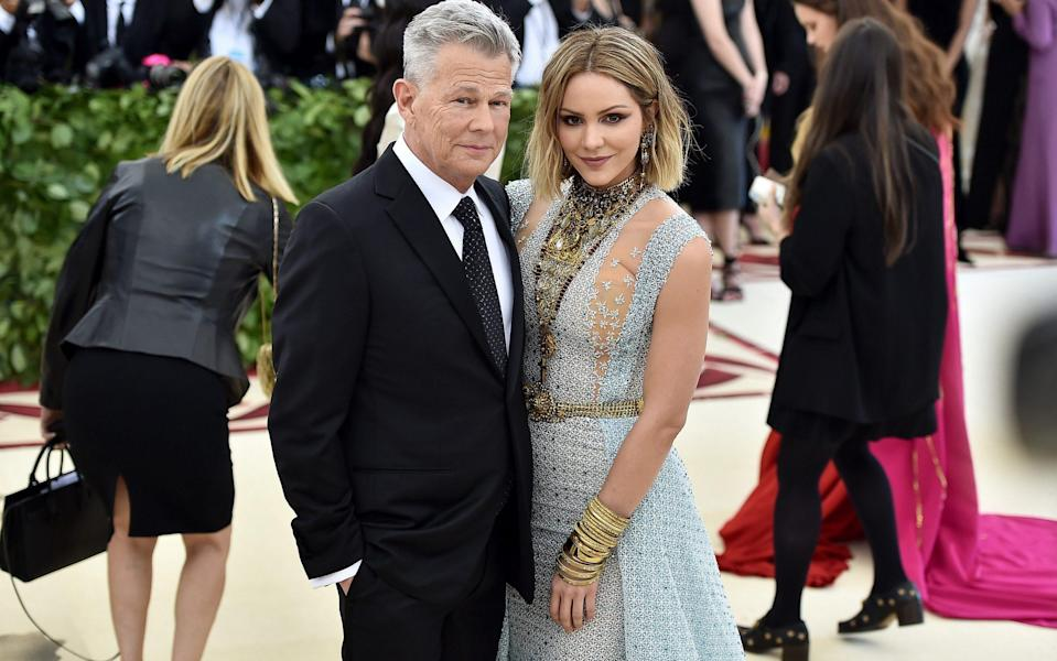 David Foster and his wife Katherine McPhee in 2018 - Getty