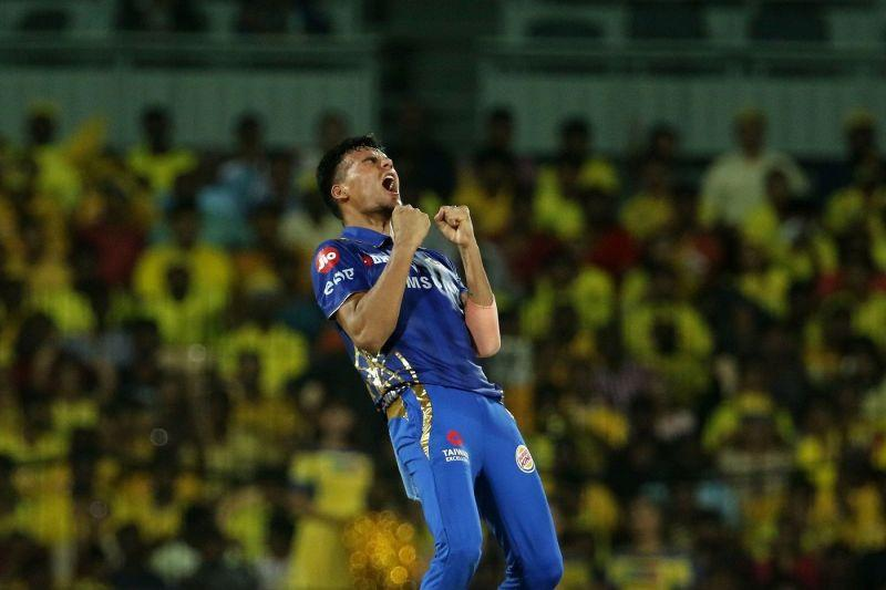 Rahul Chahar was the pick of the spinners for Mumbai