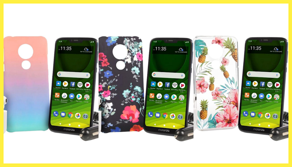 Pick a color, any color — save $240 on this Motorola Moto G7 Optima Maxx smartphone bundle. (Photo: HSN)