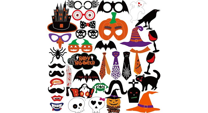 Halloween Photo Booth Props Kit Halloween Party Decorations
