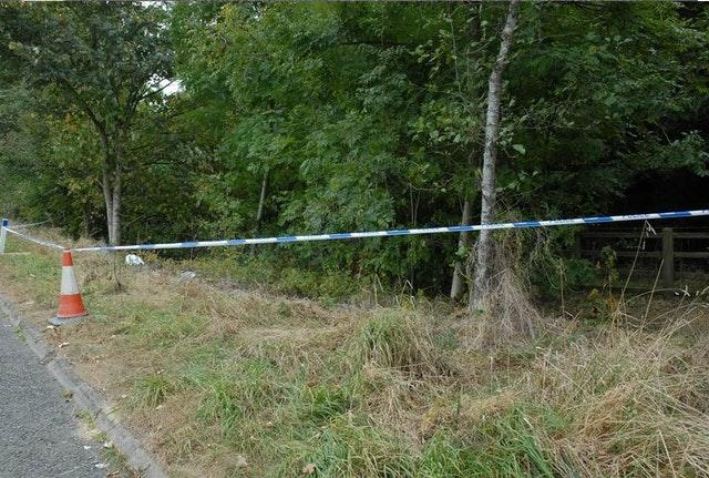 The scene where Melanie Hall's remains were found (Avon and Somerset Police/PA)