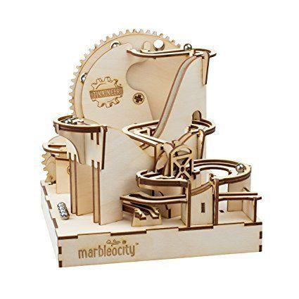"Build your own <a href=""https://www.amazon.com/PlayMonster-MADC100BB-Marbleocity-Dragon-Coaster/dp/B01NC3LB06"" target=""_blank"">working roller coaster model</a> made of real wood using critical thinking and spatial reasoning."