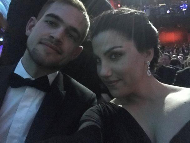 PHOTO: Rayka Zehtabchi and Sam Davis pose for a selfie inside the Dolby Theatre. (Netflix)