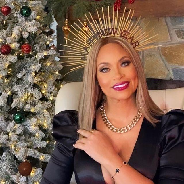 <p>The <em>Real Housewives of Potomac</em> star was ready to do it big with her new year's crown on.</p>
