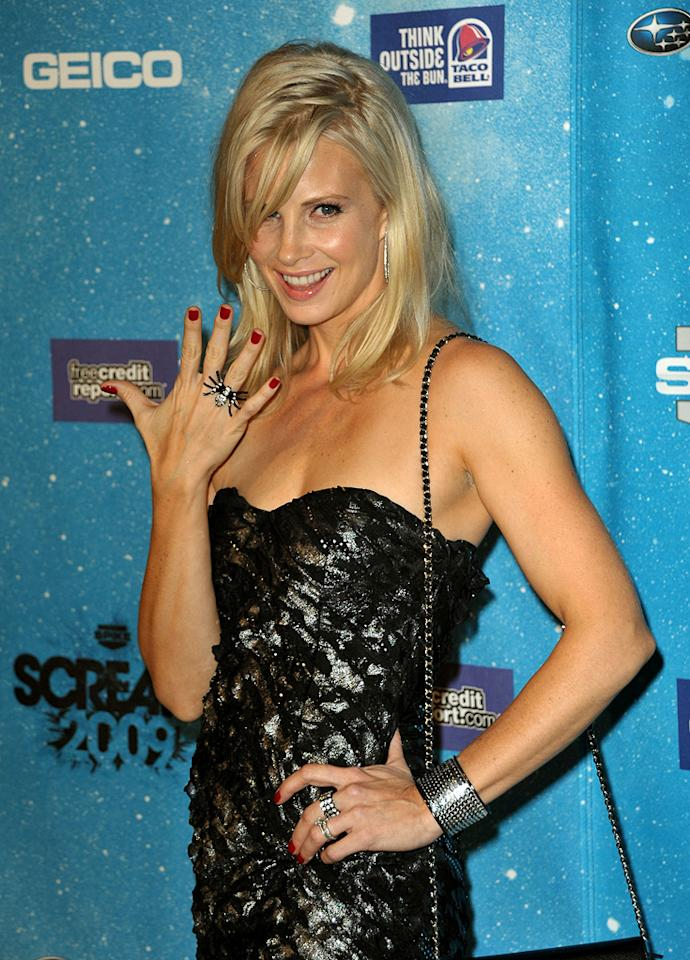"""<a href=""""http://movies.yahoo.com/movie/contributor/1800019245"""">Monica Potter</a> at the 2009 Spike TV Scream Awards in Los Angeles - 10/17/2009"""