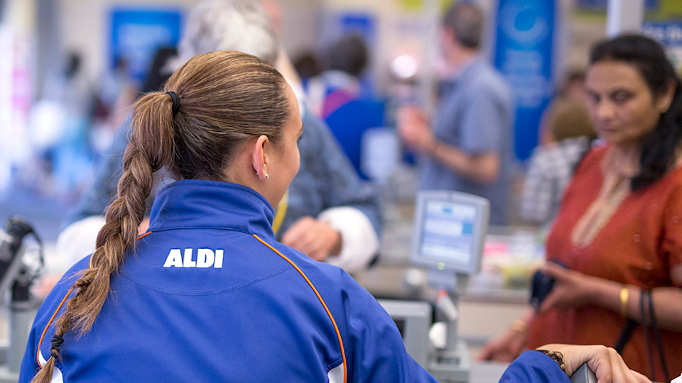 Aldi check out random act of kindness