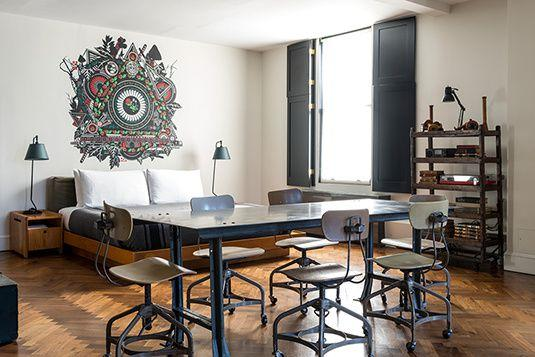 """<p>In the true spirit of the city, this eclectic turn-of-the-century hotel hosts the work of local artists and entertainers in its cozy lounges.  Industrial and functional style mingles with and artsy, contemporary aesthetic in this hotel's singular rooms. </p><p><a rel=""""nofollow"""" href=""""http://www.acehotel.com/newyork"""">Book Now</a><br></p>"""