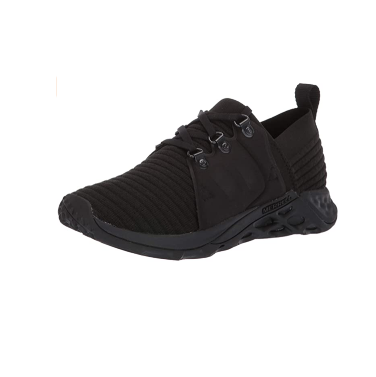 """<p><strong>Merrell</strong></p><p>amazon.com</p><p><a href=""""https://www.amazon.com/dp/B07FD18RGB?th=1&tag=syn-yahoo-20&ascsubtag=%5Bartid%7C10055.g.26960479%5Bsrc%7Cyahoo-us"""" rel=""""nofollow noopener"""" target=""""_blank"""" data-ylk=""""slk:Shop Now"""" class=""""link rapid-noclick-resp"""">Shop Now</a></p><p>Testers liked the Merrell AC+ Range for providing great cushioning, support, and traction. They feature a soft, stretchable upper with <strong>a rubber sole and toe cap, designed for traction and protection on rougher terrain</strong>. Dr. Metzl suggests these for patients to encourage """"development of ankle and leg stabilizing muscles,"""" and our experts agreed that these are a great pair to go hiking in.</p>"""