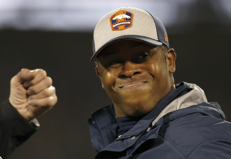 Former Denver Broncos head coach Vance Joseph is the pick to be the Cardinals' new defensive coordinator. (AP)