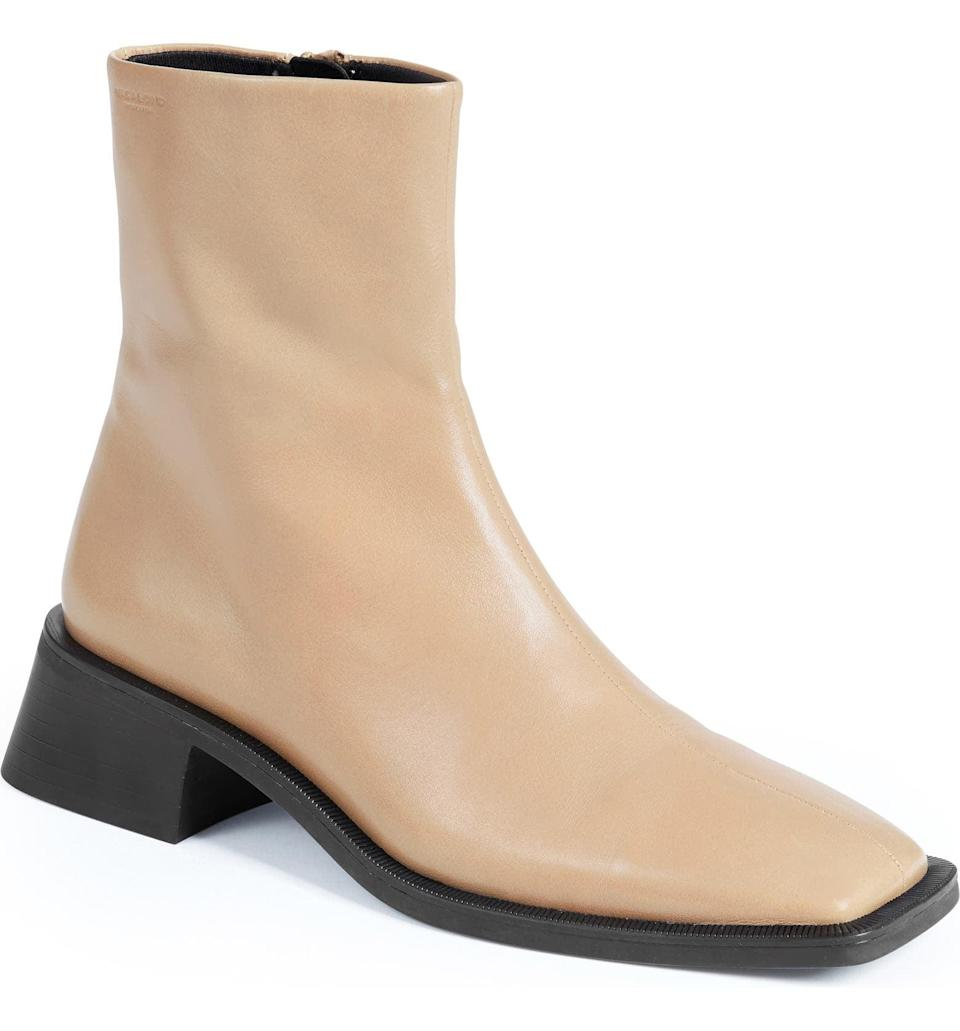 <p>This <span>Vagabond Shoemakers Blanca Boot</span> ($180) has an understated, sculptural elegance that we can't get enough of, thanks to the square toe and the able block heel. It's modern, polished and endlessly wearable.</p>