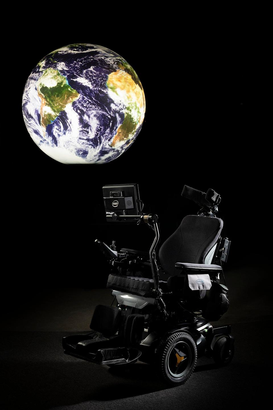Stephen Hawking's wheelchair at the Science Museum (Mary Freeman & Jennie Hills)