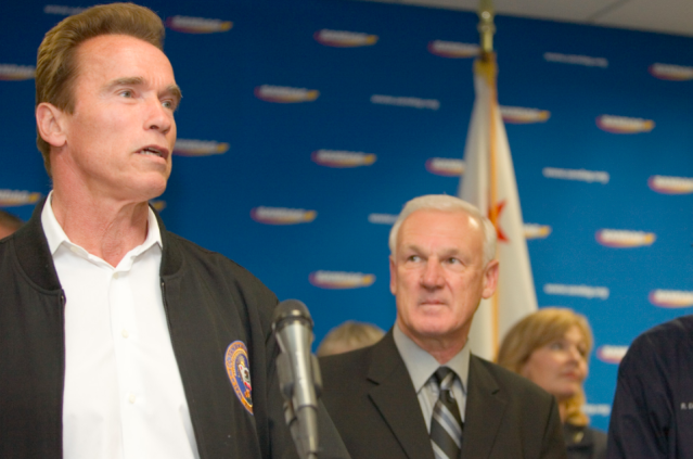 Arnold Schwarzenegger was born in Austria. Then he became governor of California. (Image: Wikimedia Commons)
