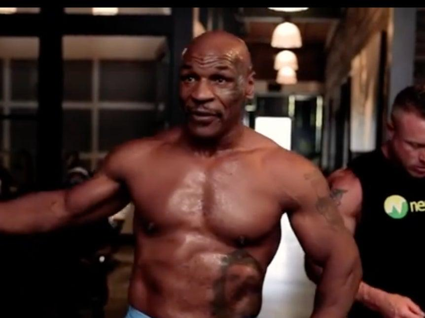 Mike Tyson has worked himself back into shape for this fightMikeTyson